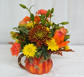 Pumpkin Delight from local Myrtle Beach florist, Bright & Beautiful Flowers