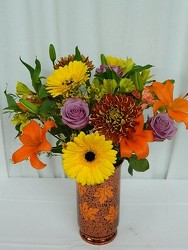 Autumn Leaves Color Splash  from local Myrtle Beach florist, Bright & Beautiful Flowers