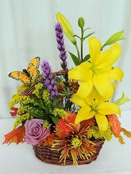 Autumn Bliss and Butterflies from local Myrtle Beach florist, Bright & Beautiful Flowers