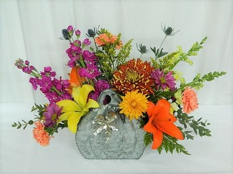 Rustic Pumpkin from local Myrtle Beach florist, Bright & Beautiful Flowers