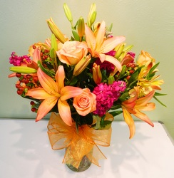The Royal Autumn Sunset from local Myrtle Beach florist, Bright & Beautiful Flowers