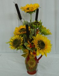 A Pitcher of Sunshine from local Myrtle Beach florist, Bright & Beautiful Flowers