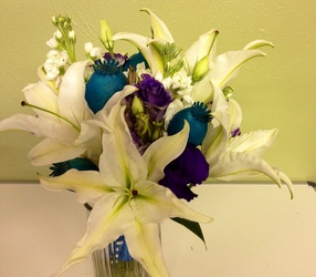 Lilies, Poppy Pods from local Myrtle Beach florist, Bright & Beautiful Flowers