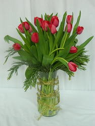 Tulips For Christmas from local Myrtle Beach florist, Bright & Beautiful Flowers