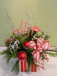 Peppermint Christmas from local Myrtle Beach florist, Bright & Beautiful Flowers