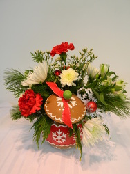 Gingerbread Cookie Jar from local Myrtle Beach florist, Bright & Beautiful Flowers