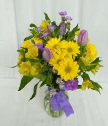 Dressed for Spring from local Myrtle Beach florist, Bright & Beautiful Flowers