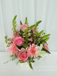 Softly Pink from local Myrtle Beach florist, Bright & Beautiful Flowers