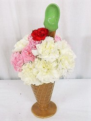 A Sundae for Someone Sweet from local Myrtle Beach florist, Bright & Beautiful Flowers