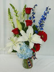 Salute from local Myrtle Beach florist, Bright & Beautiful Flowers