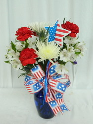 Red, White and You from local Myrtle Beach florist, Bright & Beautiful Flowers