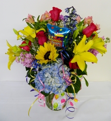 A Very Happy Birthday from local Myrtle Beach florist, Bright & Beautiful Flowers