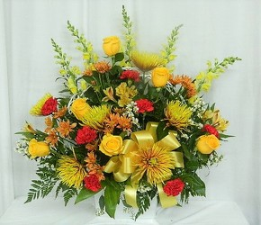 Sunset Basket from local Myrtle Beach florist, Bright & Beautiful Flowers