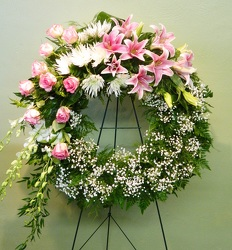 Her Beauty and Grace Wreath from local Myrtle Beach florist, Bright & Beautiful Flowers