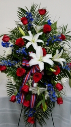 A Soldier Salute from local Myrtle Beach florist, Bright & Beautiful Flowers