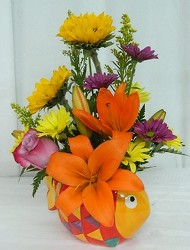 A Fish Tale from local Myrtle Beach florist, Bright & Beautiful Flowers
