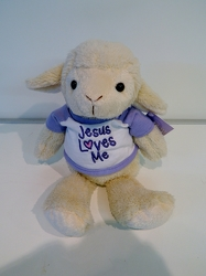 Jesus Loves me Lamb from local Myrtle Beach florist, Bright & Beautiful Flowers