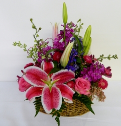 Basket of Love from local Myrtle Beach florist, Bright & Beautiful Flowers