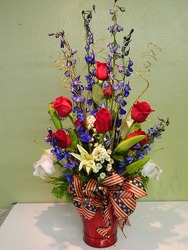 The Red, White and Blue from local Myrtle Beach florist, Bright & Beautiful Flowers
