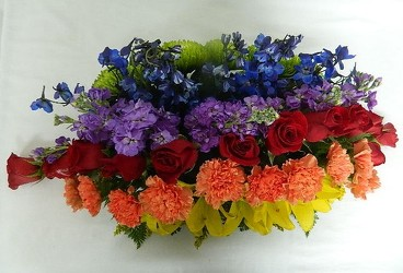 Crossing the Rainbow Bridge from local Myrtle Beach florist, Bright & Beautiful Flowers