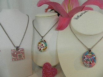 Think Pink Necklaces from local Myrtle Beach florist, Bright & Beautiful Flowers